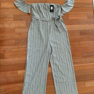 Fashion Nova Striped Jumpsuit